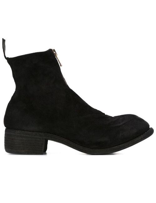 GUIDI | Мужские Чёрные Ботинки По Щиколотку