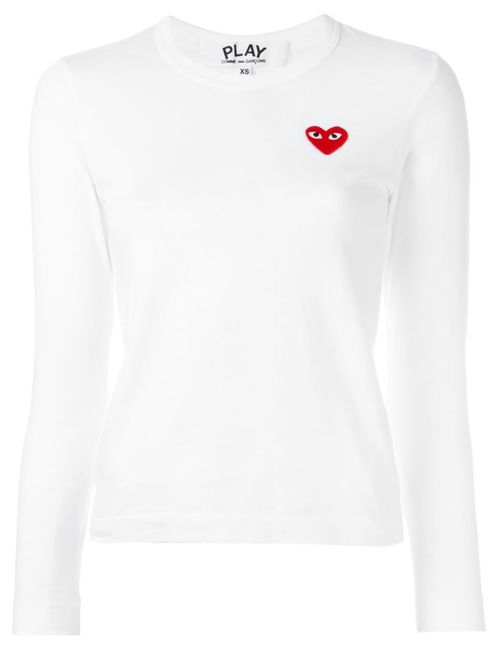 Comme des Gar ons Play | Женское Белый Comme Des Garçons Play Heart Application Knitted