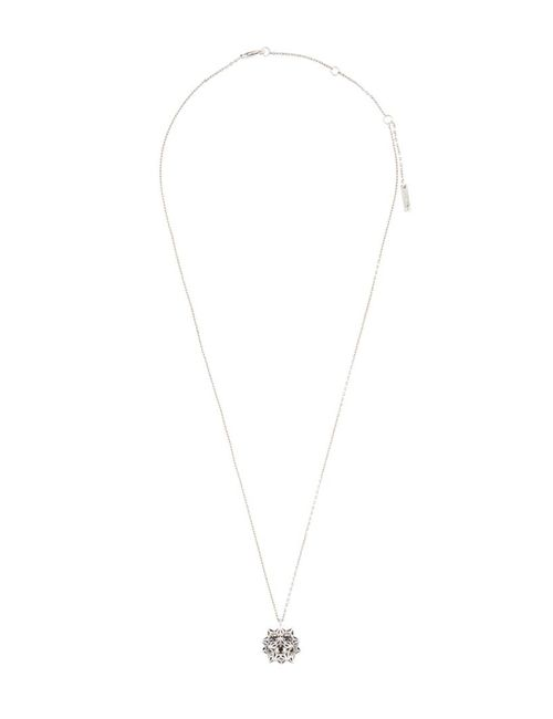 JOHN BREVARD | Женское Серебристое Ожерелье С Сапфиром Helix Frame