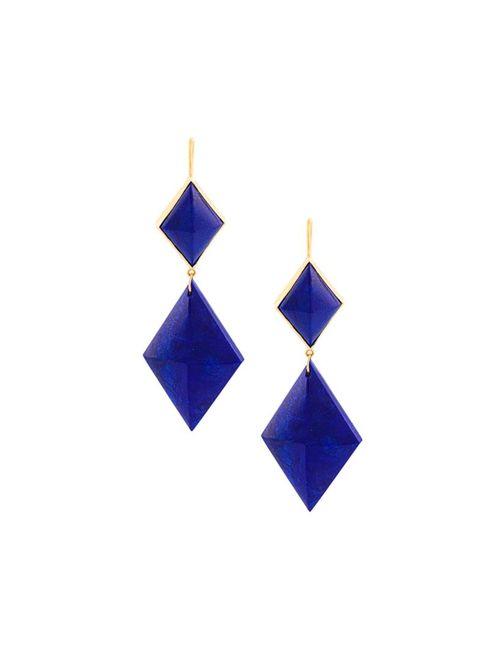 MARIE HELENE DE TAILLAC   Женское Синий Double Triangular Earrings