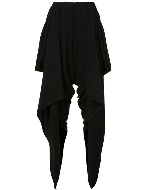 Gareth Pugh | Женское Чёрный Draped Wrap Cropped Trousers