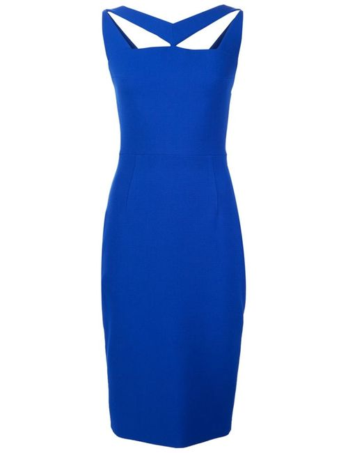 CHRISTIAN SIRIANO   Женское Синее Облегающее Платье