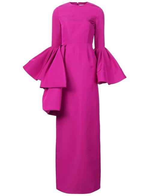 CHRISTIAN SIRIANO | Женское Розовое Платье С Оборками