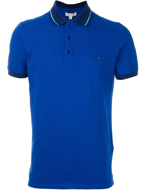 Burberry London | Мужская Синяя Футболка-Поло С Логотипом