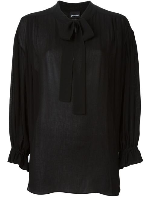 Just Cavalli | Женская Чёрная Блузка С Бантом