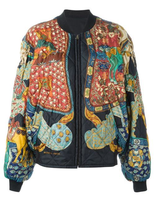 Hermès Vintage | Женское Чёрный Reversible Bomber Jacket