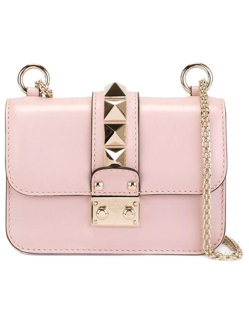 Valentino | Женская Розовая Сумка Через Плечо Glam Lock