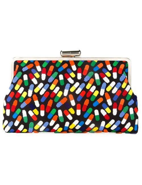 Sarah's Bag | Женский Чёрный Клатч Pop Pill