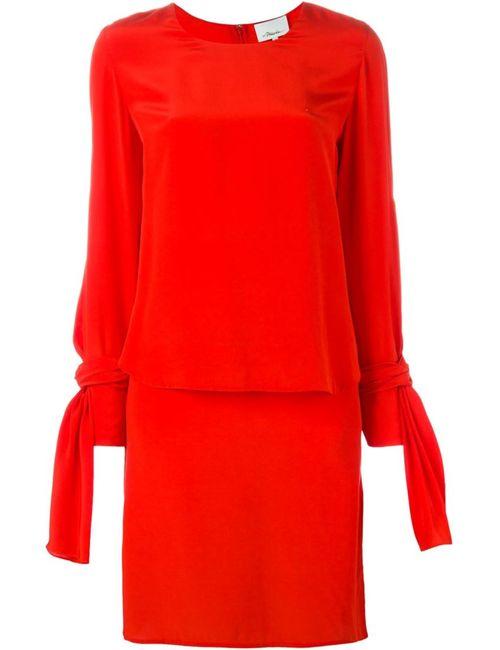 3.1 Phillip Lim | Женское Красное Платье С Длинными Рукавами