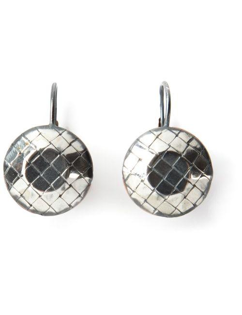 Bottega Veneta | Женское Серебристый Intrecciato Embossed Earrings