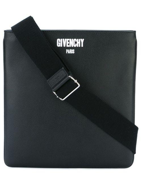 Givenchy | Мужская Чёрная Сумка-Почтальонка Paris