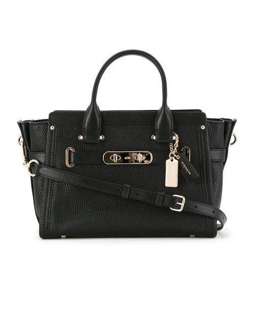 COACH | Женское Чёрный Swagger 27 Small Tote Bag