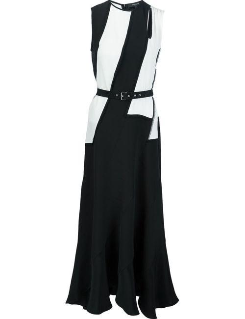 Derek Lam | Женское Чёрное Платье С Контрастным Поясом
