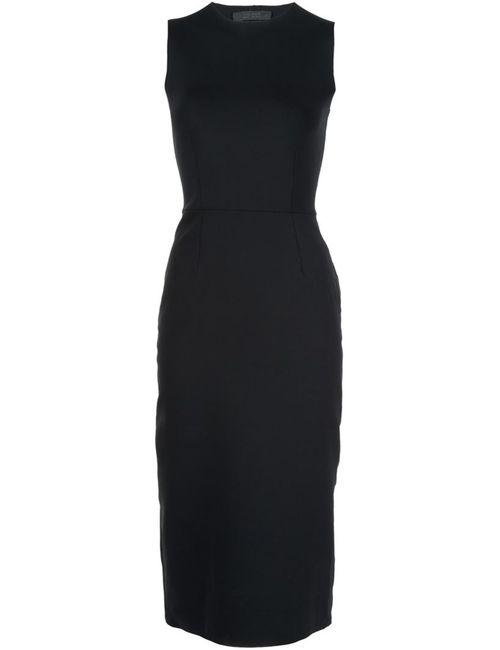 The Row | Женское Чёрное Трикотажное Платье Без Рукавов