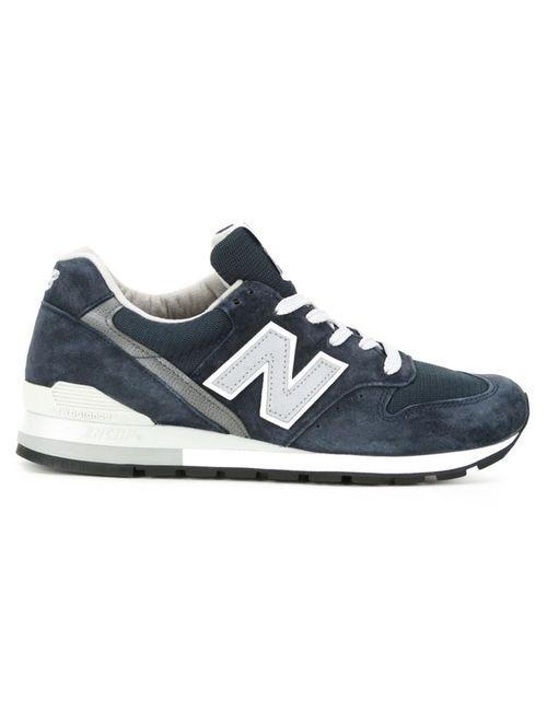 New Balance | Женские Синие Кроссовки С Логотипами По Бокам