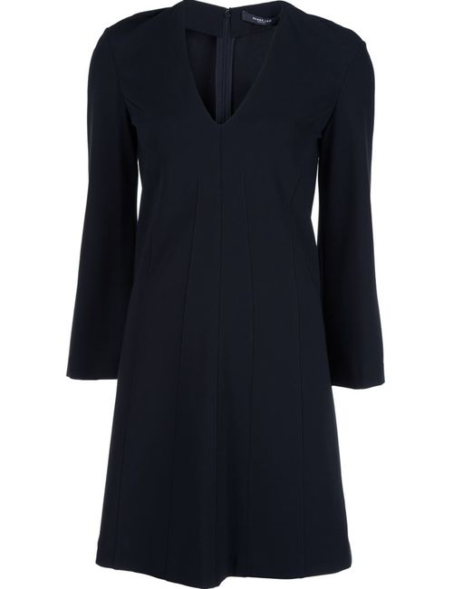 Derek Lam | Женское Чёрное Платье С V-Образным Вырезом
