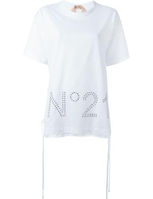 No21 | Женская Белая Футболка С Логотипом