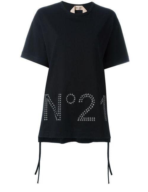 No21 | Женская Черный Футболка С Логотипом
