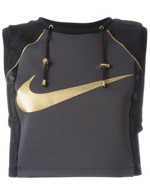 Nike | Женский Чёрный Укороченный Топ Lab X Olivier Rousteing