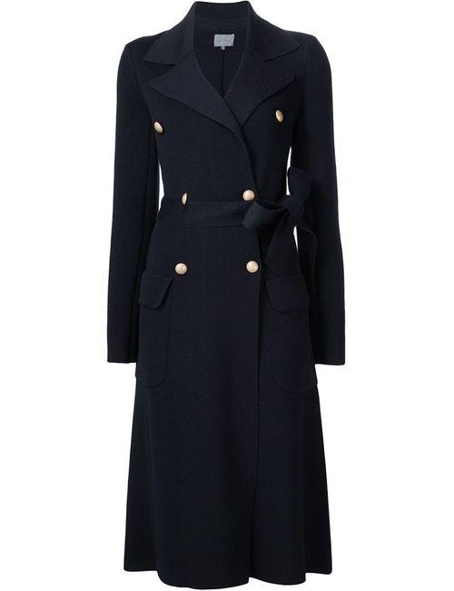 Maiyet | Женское Синее Пальто С Поясом