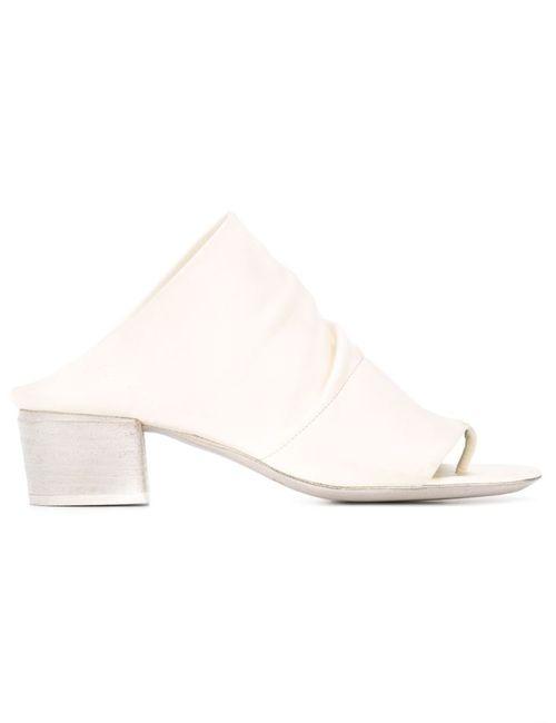 Marsell | Женские Белые Мюли С Открытым Носком