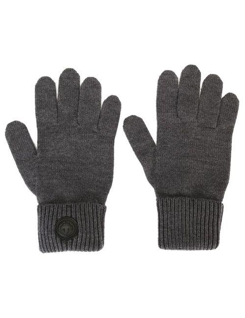 Dsquared2 | Мужские Серые Классические Перчатки В Рубчик
