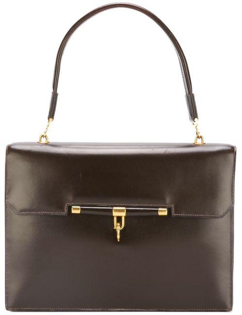 Hermès Vintage | Женская Коричневая Сумка С Откидным Клапаном