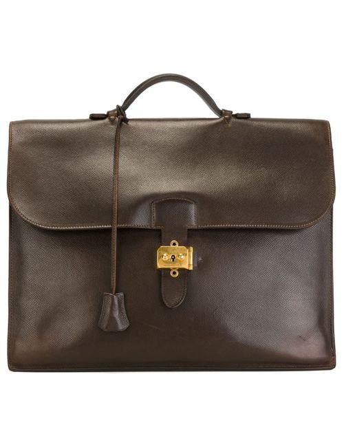Hermès Vintage | Мужской Коричневый Портфель Sac À Dépèches