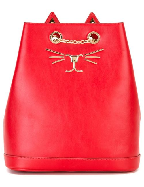 Charlotte Olympia | Женский Красный Рюкзак Feline