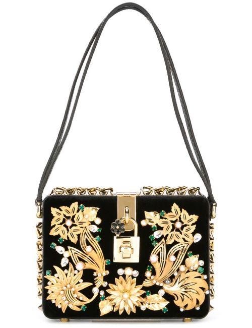 Dolce & Gabbana | Женская Чёрная Декорированная Сумка Dolce