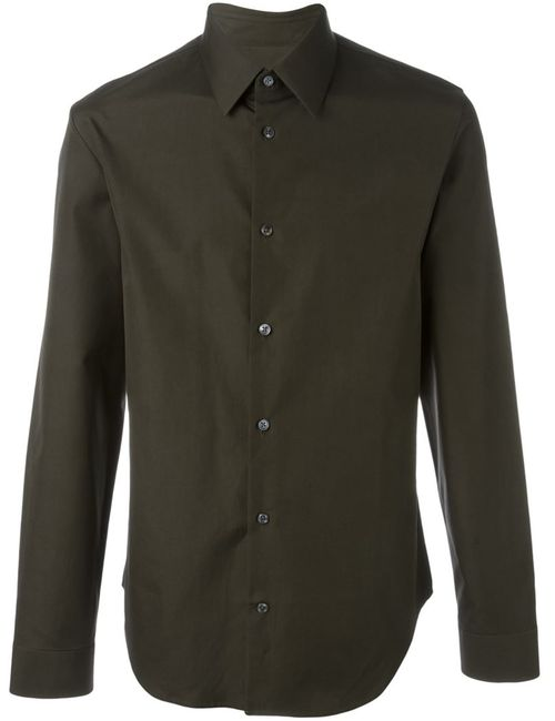 Maison Margiela   Мужская Зелёная Классическая Рубашка