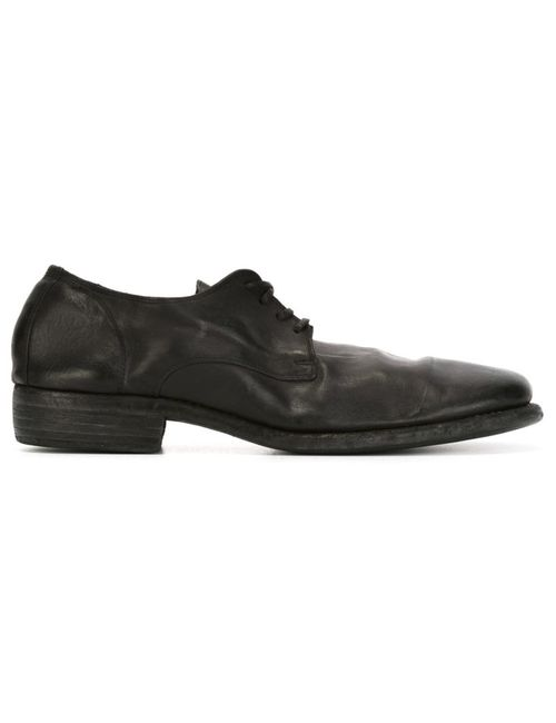 GUIDI | Мужское Чёрный Distressed Lace-Up Shoes