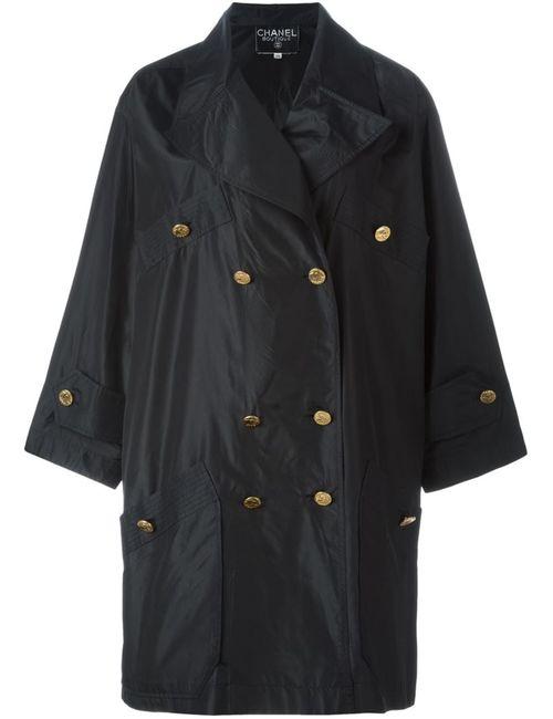 Chanel Vintage | Женское Чёрное Двубортное Пальто