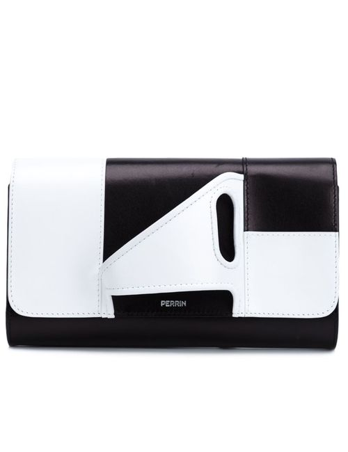 PERRIN PARIS | Женское Коричневый Glove Handle Colour Block Clutch