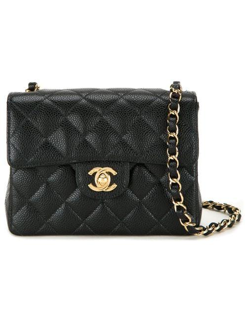 Chanel Vintage | Женская Чёрная Сумка На Плечо Мини