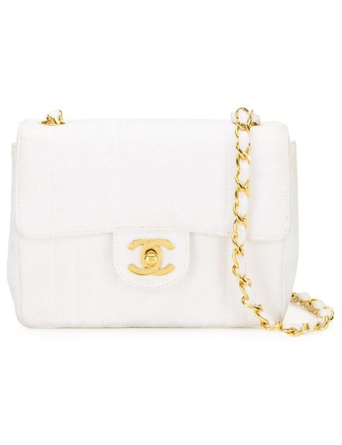 Chanel Vintage | Женская Белая Сумка На Плечо Мини