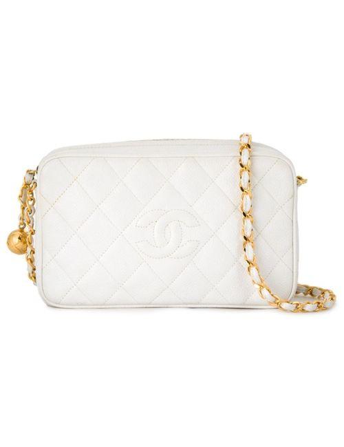 Chanel Vintage | Женская Белая Сумка На Плечо С Логотипом