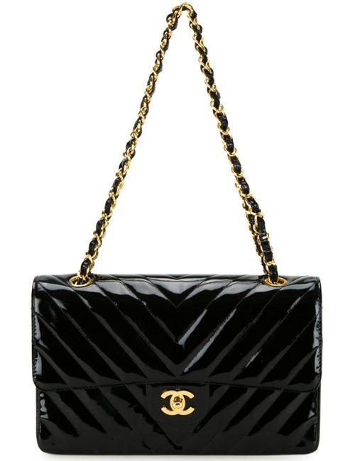 Chanel Vintage | Женская Черный Сумка На Плечо С Логотипом