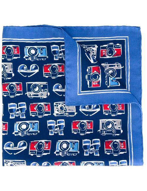 Kiton | Мужское Синий Camera Print Pocket Square