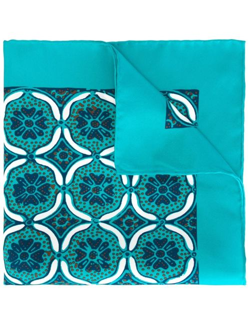 Kiton | Мужское Синий Tile Print Pocket Square