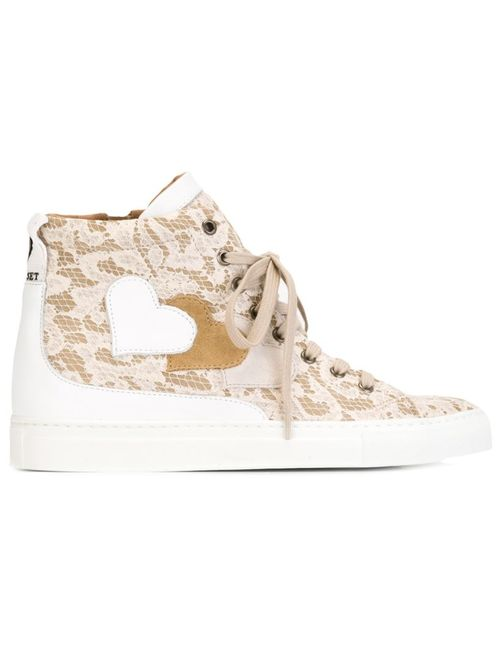 Twin-set | Женское Nude & Neutrals Lace Hi-Top Sneakers
