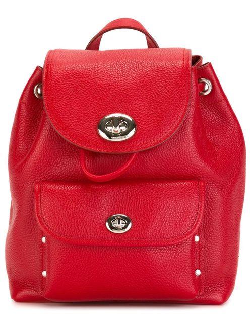 COACH | Женский Красный Маленький Рюкзак С Откидным Клапаном