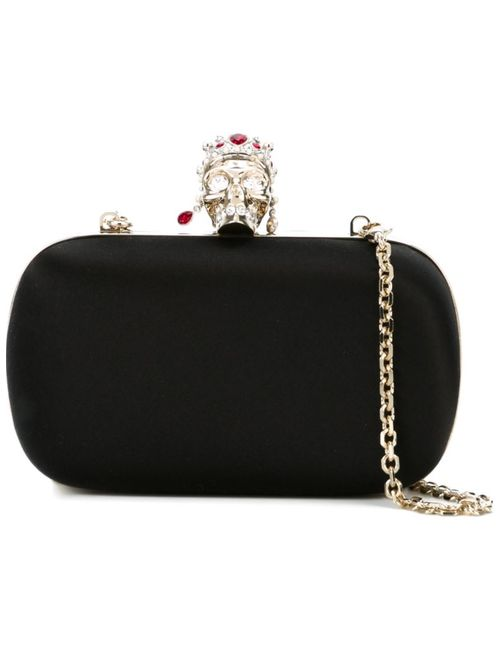 Alexander McQueen   Женское Чёрный Royal Skull Box Clutch