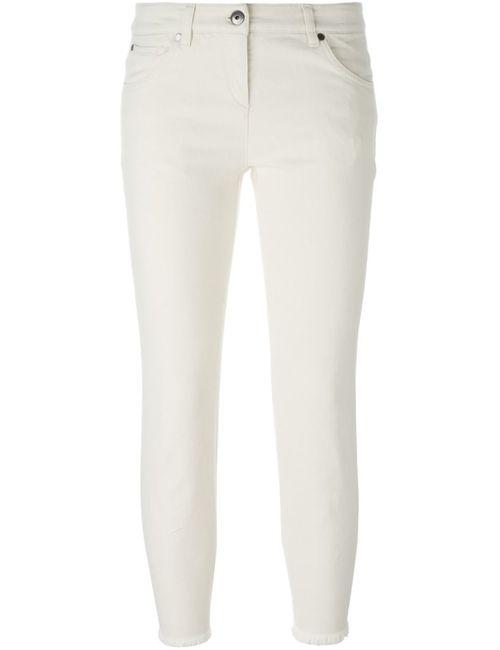 Brunello Cucinelli   Женское Nude & Neutrals Frayed Hem Cropped Jeans