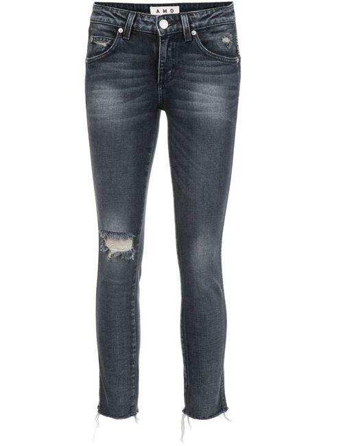 AMO | Женское Чёрный Stonewashed Cropped Jeans