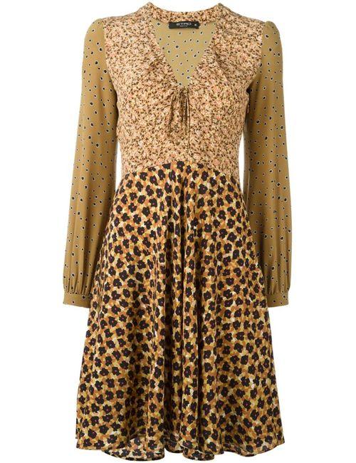 Etro   Женское Многоцветное Платье С Комбинированным Принтом