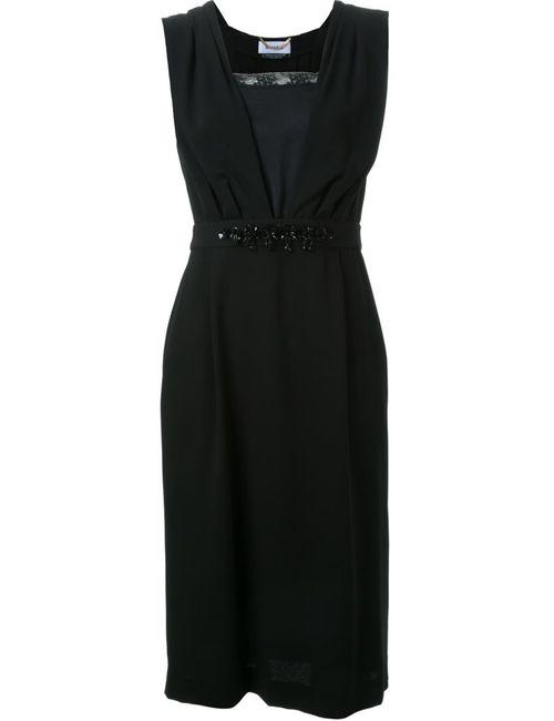 Muveil | Женское Чёрное Декорированное Платье