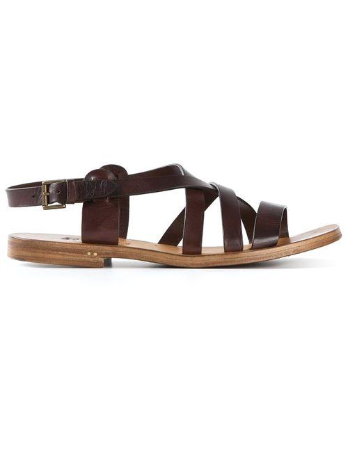 Silvano Sassetti   Женское Коричневый Buckled Strappy Sandals