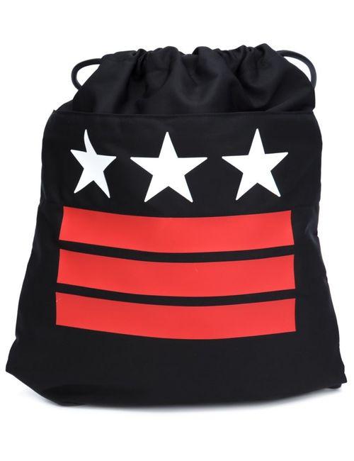 Givenchy | Мужской Чёрный Рюкзак С Принтом Звезд И Полосок
