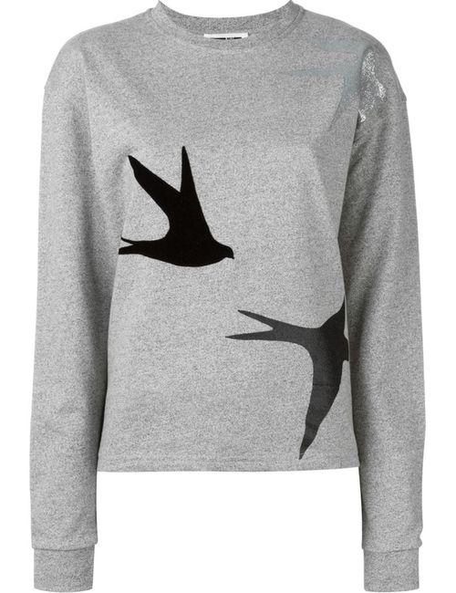 Mcq Alexander Mcqueen | Женское Серый Swallow Patch Sweatshirt